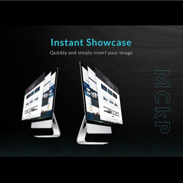 Mac mock up schaufenster Kostenlosen PSD