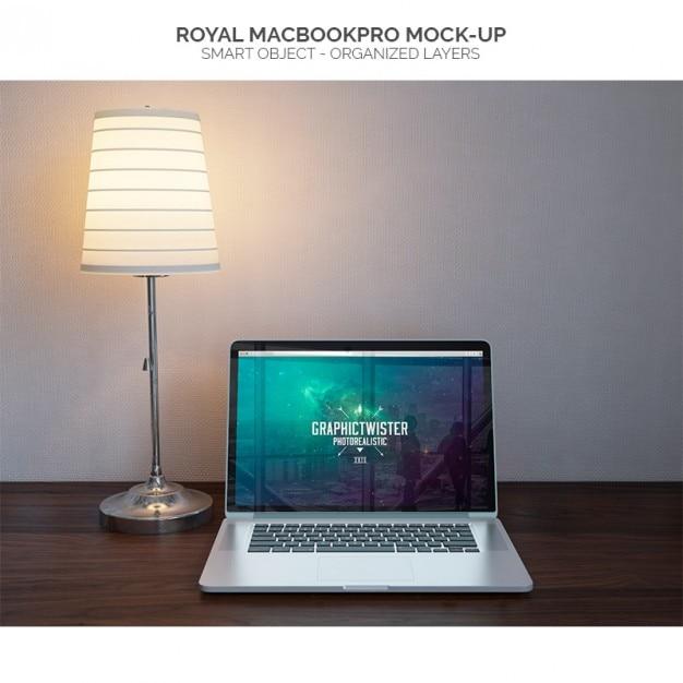 Macbookpro mock-up Kostenlosen PSD