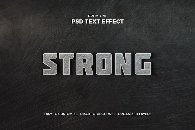 Machst du sport? metallic text effect Premium PSD