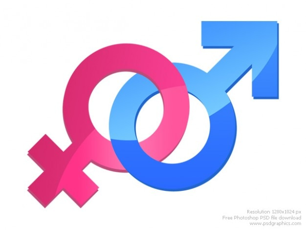 Männliche und weibliche zeichen Kostenlosen PSD