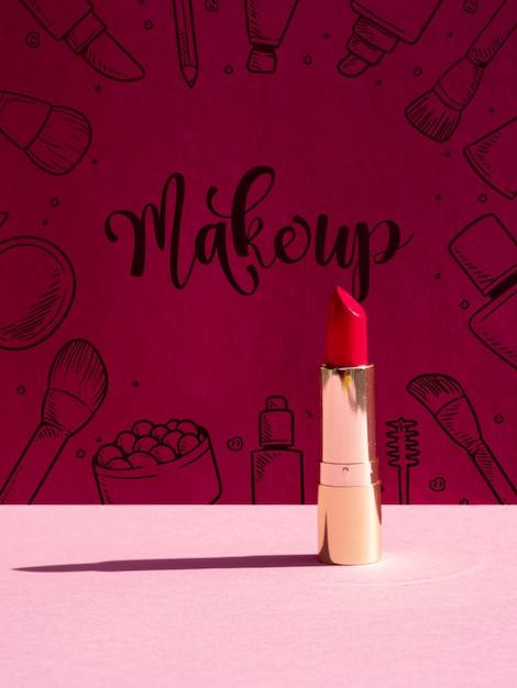 Make up hintergrund mit lippenstift Kostenlosen PSD