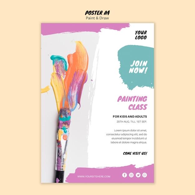 Malerei klasse poster vorlage Kostenlosen PSD