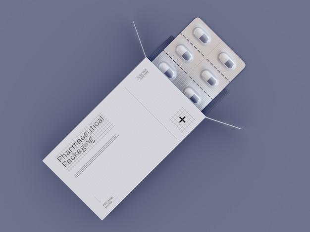 Marken- und verpackungsmodell für medikamente Premium PSD