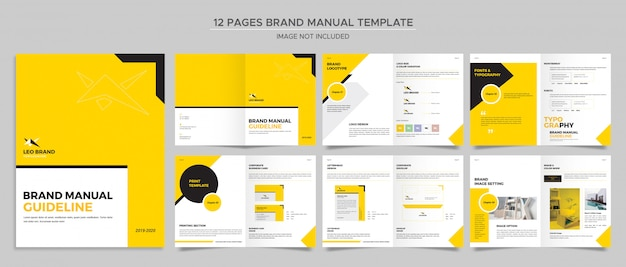 Markenhandbuch oder katalogvorlage 12 seiten Premium PSD
