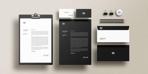 Markenidentitäts-mockup-set Premium PSD