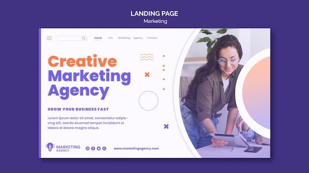 Marketing-landingpage-vorlage Premium PSD