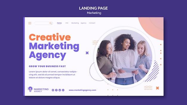 Marketing-landingpage-vorlage Kostenlosen PSD