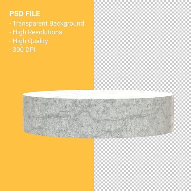 Marmor podium rendering isoliert Premium PSD