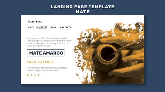 Mate-konzept-landingpage-vorlage Kostenlosen PSD