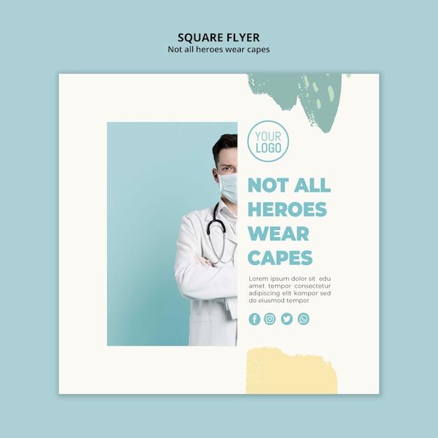 Medical professional square flyer stil Kostenlosen PSD
