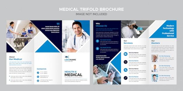 Medical trifold broschüren vorlage Premium PSD