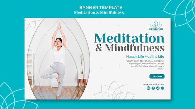 Meditationsbannerschablone Kostenlosen PSD