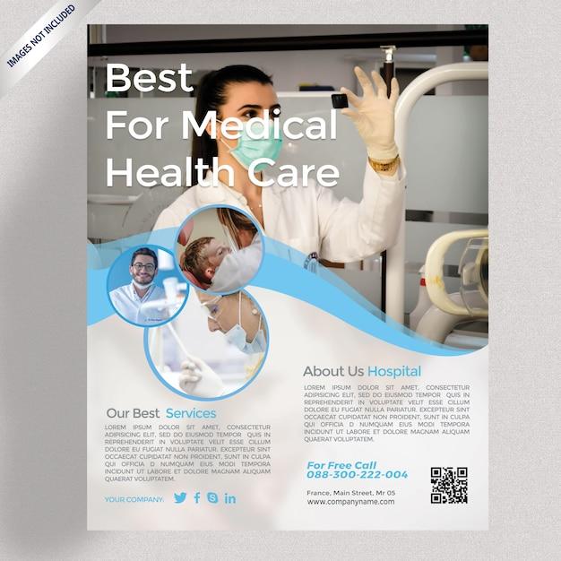 Medizinische flyer vorlage Premium PSD