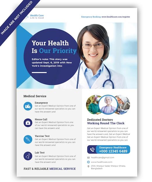Medizinischer flyer Premium PSD
