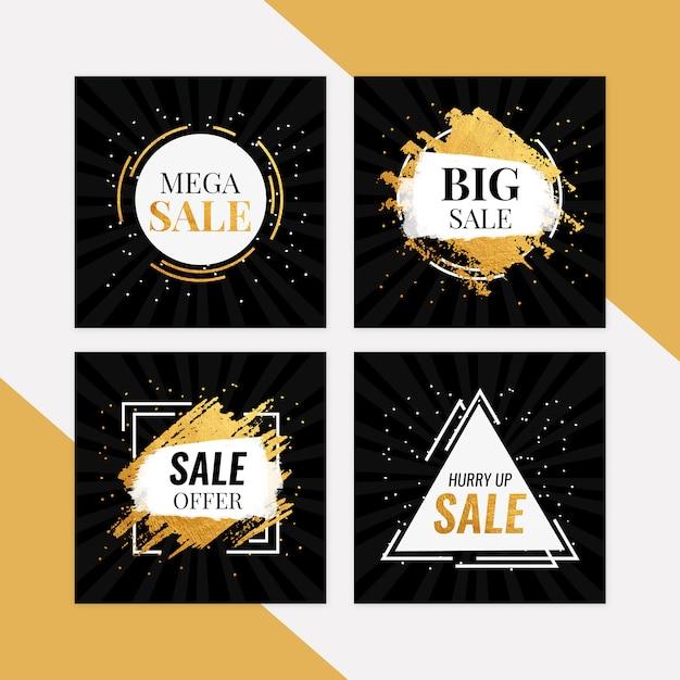 Mega sale banner set Premium PSD