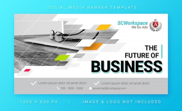 Mehrzweck corporate social media banner vorlage Premium PSD