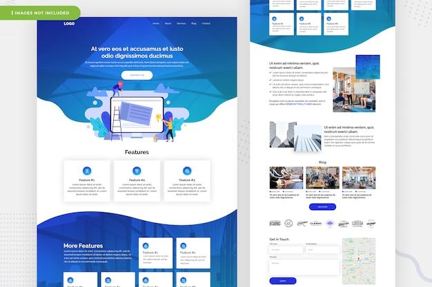 Mehrzweck-website-seitendesign Premium PSD