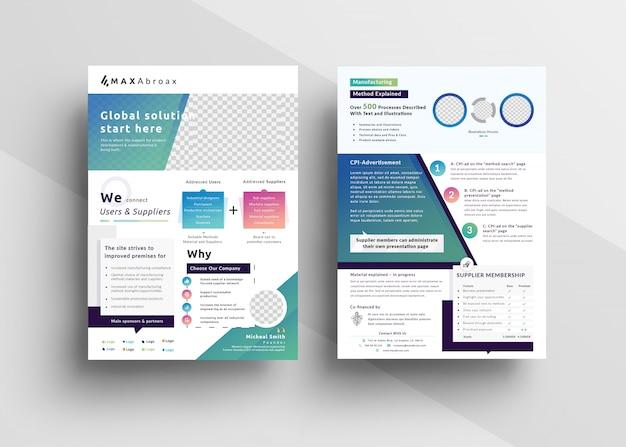 Mehrzweckmarketing flyer vorlage Premium PSD