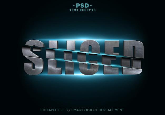 Metal sliced effects textvorlage Premium PSD