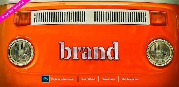 Metall markenname text effekt design Premium PSD