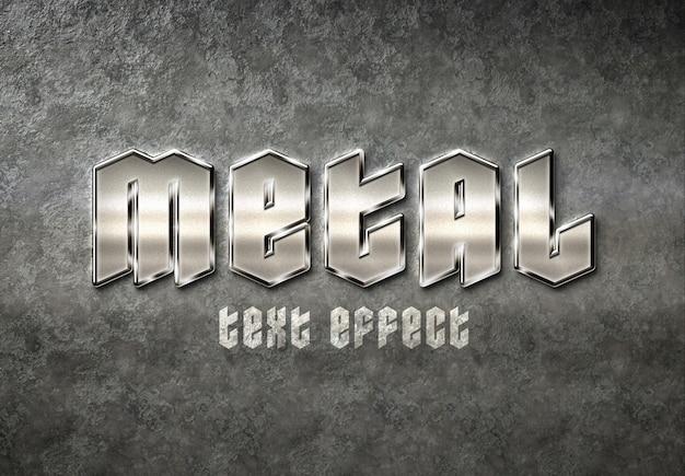 Metall-texteffekt Premium PSD
