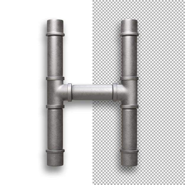 Metallpfeife, alphabet h. Premium PSD