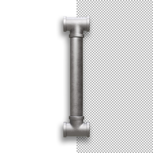 Metallpfeife, alphabet i. Premium PSD