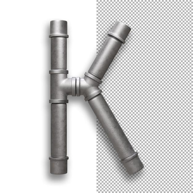 Metallpfeife, alphabet k. Premium PSD