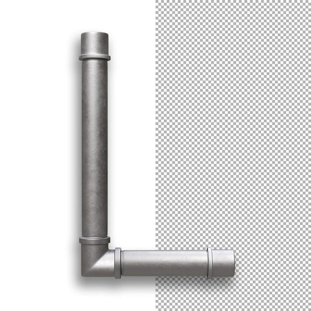 Metallpfeife, alphabet l. Premium PSD