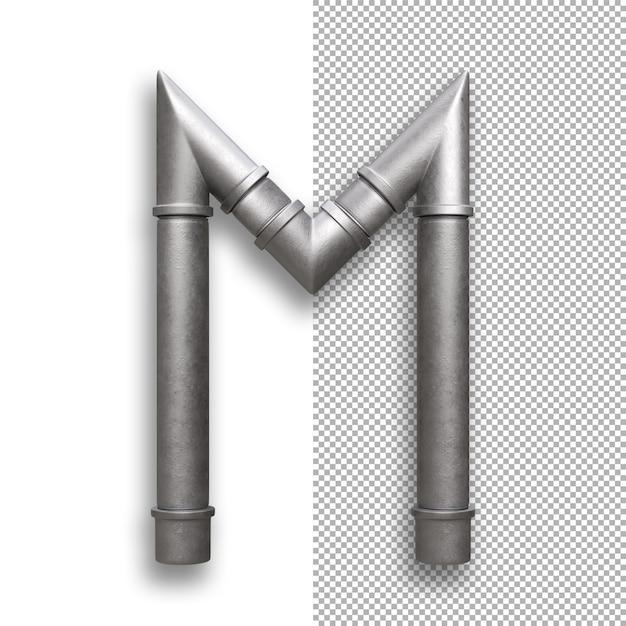 Metallpfeife, alphabet m. Premium PSD