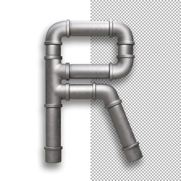Metallpfeife, alphabet r. Premium PSD