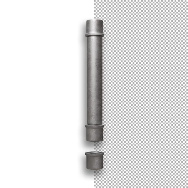 Metallrohr, ausrufezeichen Premium PSD