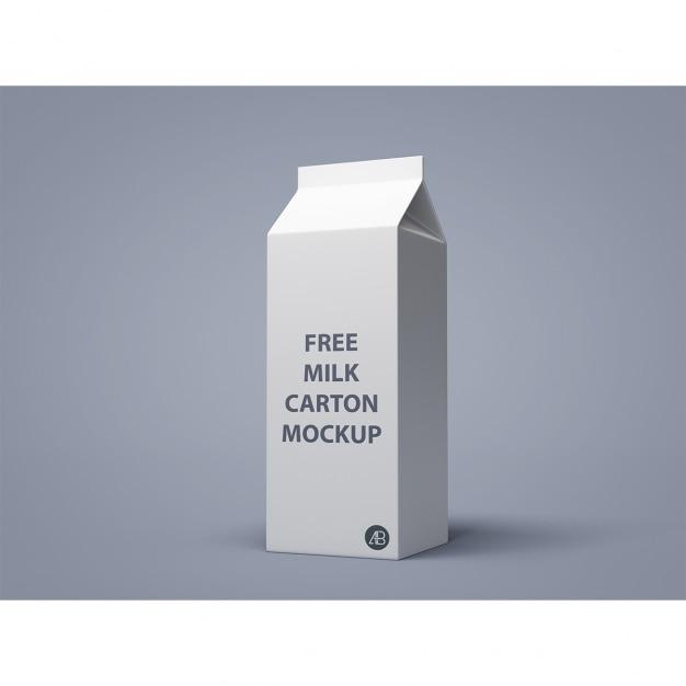 Milch verpackung mock-up Kostenlosen PSD