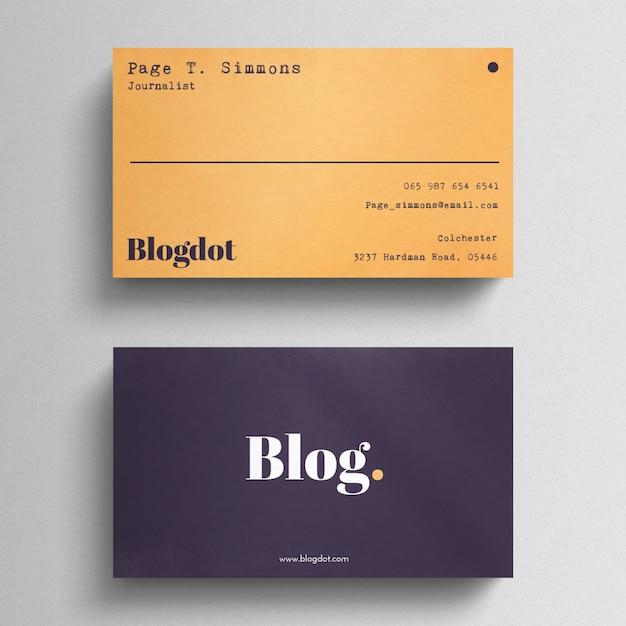 Minimale Blogger Visitenkarte Kostenlose Psd Datei