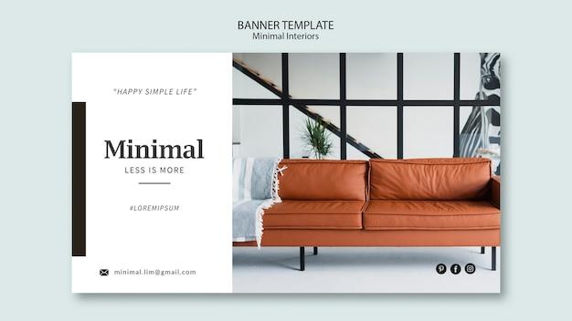 Minimales interieur-bannerthema Premium PSD