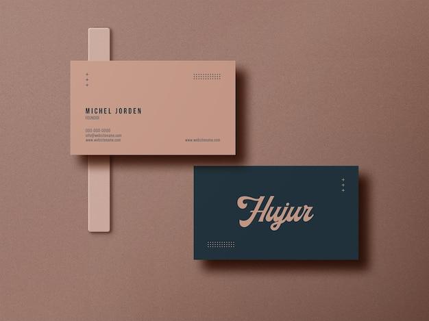 Minimales visitenkarten-modelldesign Premium PSD