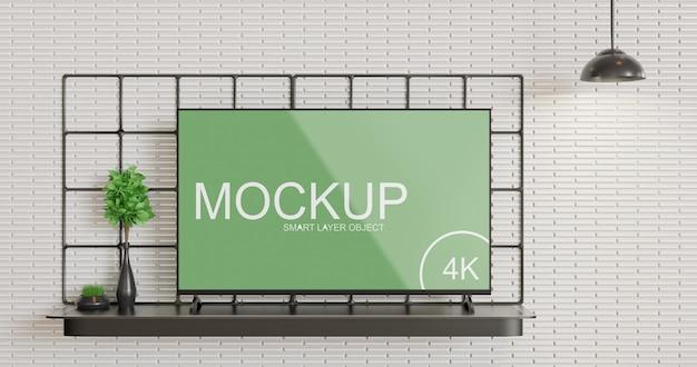 Minimalismus tv-display modell vorderansicht Premium PSD