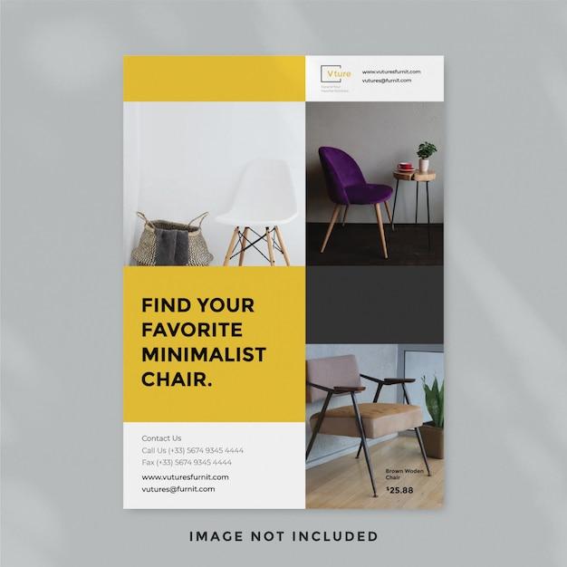Minimalistische möbel flyer vorlage Premium PSD