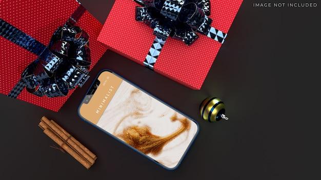 Mobile smartphone mockup für das globale geschäft mit markenidentität Premium PSD