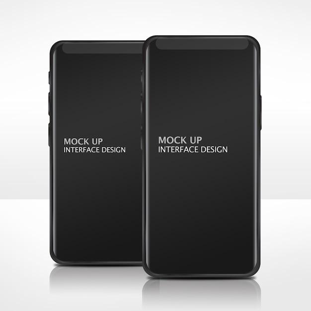 Mock up mobile interface-vorlage Kostenlosen PSD