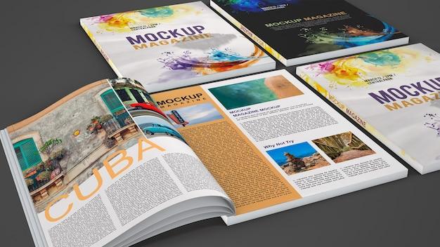 Mock-up verschiedener magazine Kostenlosen PSD