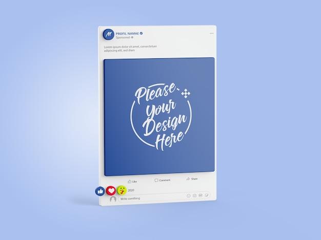 Mockup facebook social media 3d Premium PSD
