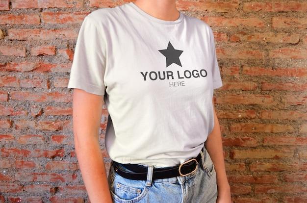 Mockup t-shirt nahaufnahme Premium PSD