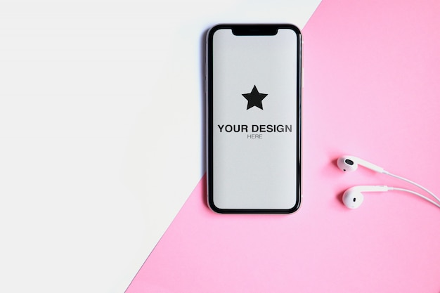 Mockup - telefon kopfhörer Premium PSD