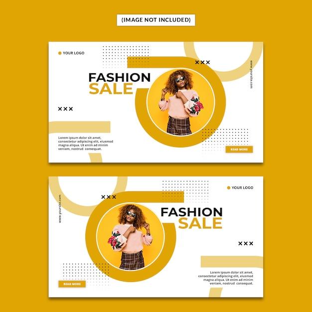 Mode banner vorlage Premium PSD