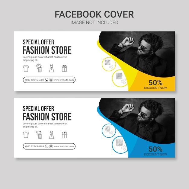 Mode facebook cover vorlage Premium PSD