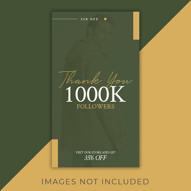 Mode instagram follower feier 1000k rabatt Premium PSD