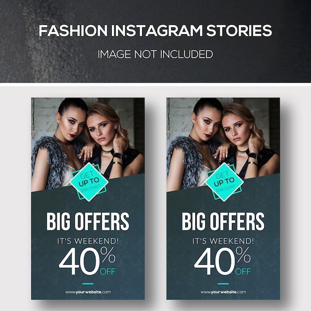 Mode instagram geschichten Premium PSD