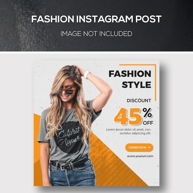 Mode instagram post oder quadratische banner vorlage Premium PSD