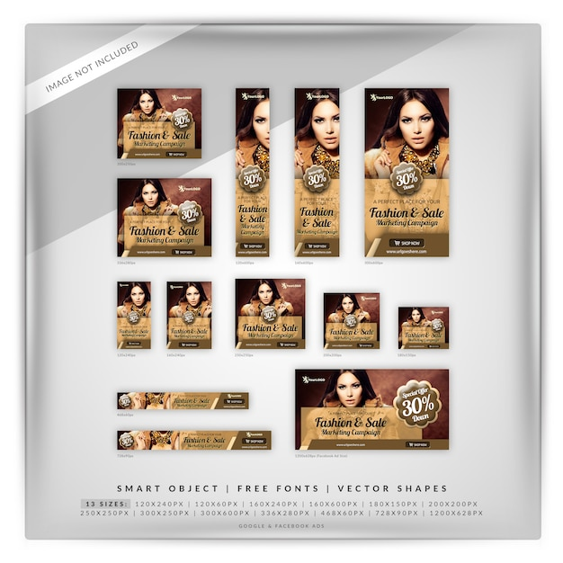 Mode-marketing-banner-set Premium PSD